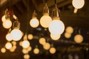 ampoules allumées