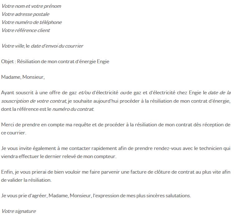 lettre de r u00e9siliation engie
