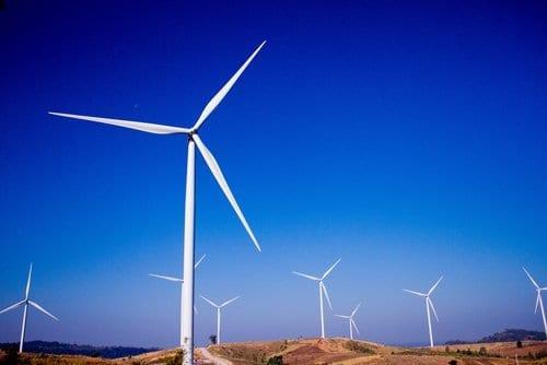 champ éolienne