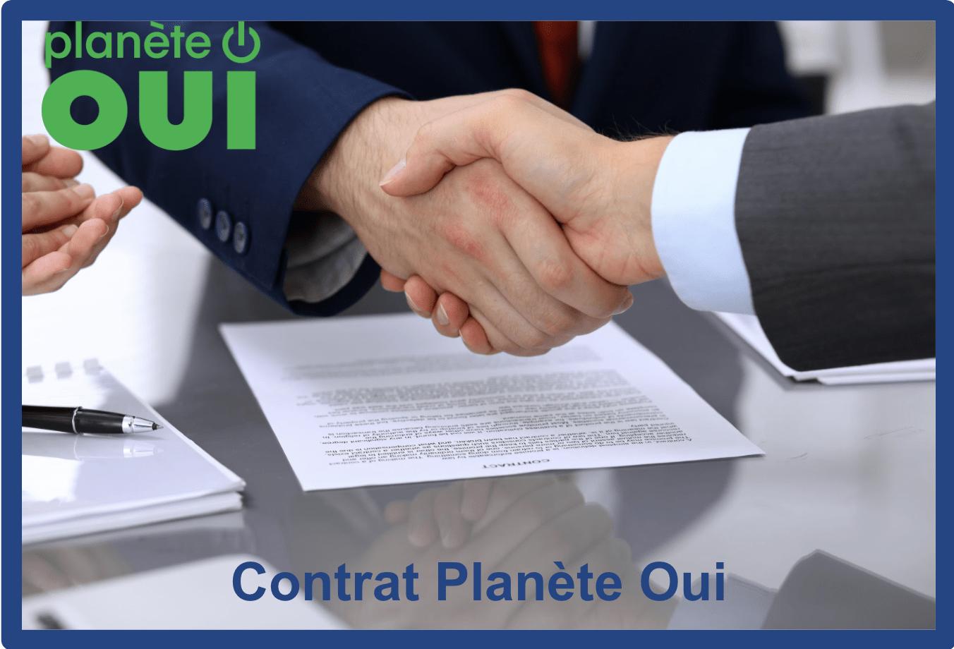 contrat planète oui