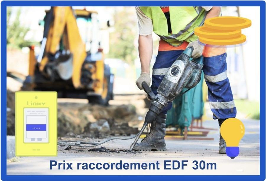 prix raccordement edf 30m